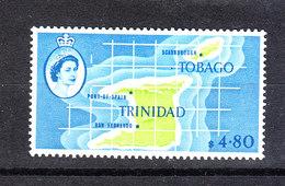 Trinidad &Tobago -1960-66. Carta Geografica Di Trinidad. RARO. Map Of Trinidad. RARE. MNH - Geografia