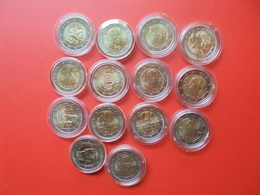 LOT De 2 EURO ITALIE 14 MONNAIES Entre 2005 Et 2017 QUALITE UNC - EURO