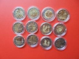 LOT De 2 EURO LUXEMBOURG 12 MONNAIES Entre 2012 Et 2018 QUALITE UNC - EURO