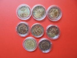 LOT De 2 EURO SLOVAQUIE 8 MONNAIES Entre 2009 Et 2014 QUALITE UNC - EURO