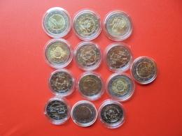 LOT De 2 EURO MALTE 13 MONNAIES Entre 2011 Et 2018 QUALITE UNC - EURO