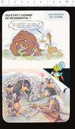 Humour Homme De Néandertal Préhistoire Hutte Avec Os De Mammouth Recouvert De Peaux Peausserie Racloir Tannage D36 - Old Paper