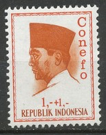 """TIMBRE - INDONESIE. 1965. , INSCRIBED VERTICALLY """"Conefo"""" - Neuf - Indonesia"""