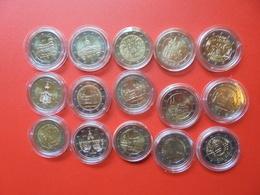 LOT De 2 EURO ALLEMAGNE 15 MONNAIES Entre 2011 Et 2018 QUALITE UNC - EURO