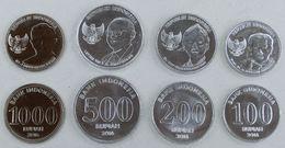 INDONESIA 2016 SERIE 4 NONETE 1000-500-200-100 RUPIAH NEW - Indonesia