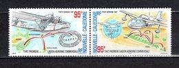 Nlle CALEDONIE  PA N° 345 + 346  NEUFS SANS CHARNIERE  COTE 5.00€   LIAISON AERIENNE - Airmail