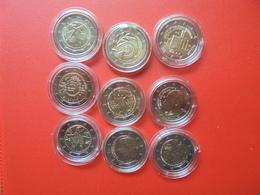 LOT De 2 EURO GRECE 9 MONNAIES Entre 2010 Et 2017 QUALITE UNC - EURO