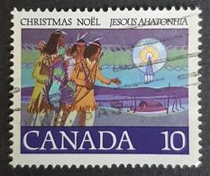 "1977 Christmas, Canada's First Carol "" Jesous Ahatonhia"", Noël, Canada, *,**, Or Used - 1952-.... Reign Of Elizabeth II"