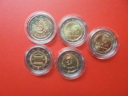 LOT De 2 EURO BELGIQUE 5 MONNAIES Entre 2012 Et 2017 QUALITE UNC - EURO