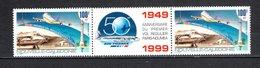 Nlle CALEDONIE  PA N° 347A   NEUF SANS CHARNIERE  COTE 7.00€   AVION PREMIER VOL REGULIER - Airmail