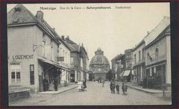 Ongebruikte Postkaart Van **  MONTAIGU ** - RUE DE LA GARE - STATIESTRAAT  ( Met Animatie ) ! - Scherpenheuvel-Zichem