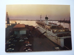 """Cartolina Viaggiata """"PORTO TORRES Nave Di Linea All'ancora"""" 1985 - Italien"""