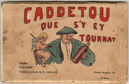 D64  CARNET DE 10 CARTES COMPLET CADDETOU QUE S'Y EY TOURNAT - Francia