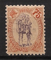 Côte Des Somalis - 1902 - N°Yv. 49 - Méhariste 75c - Neuf * / MH VF - Neufs