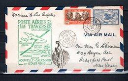 Nlle CALEDONIE  157 + PA N° 32 SUR LETTRE  COTE 76.00€   AVION  BATEAUX - Briefe U. Dokumente