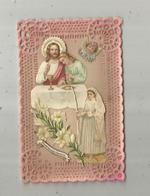 Cp, Dentelée , Carte à Rajout ,découpis Souvenir De Première Communion ,écrite 1922,  2 Scans - Christianity