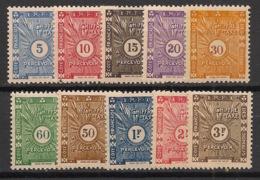 Côte Des Somalis - 1938 - Taxe TT N°Yv. 11 à 20 - Série Complète - Neuf Luxe ** / MNH / Postfrisch - French Somali Coast (1894-1967)