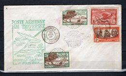 Nlle CALEDONIE 146x2 + 157 + PA N° 30 SUR LETTRE  COTE 63.60€   AVION  BATEAUX - Briefe U. Dokumente