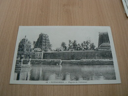 CP09/ INDE PONDICHERY PAGODE DE VILLENOUR / CARTE NEUVE - India