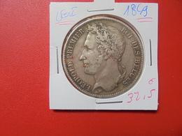 Léopold 1er. 5 FRANCS 1849 ARGENT (A.7) - 11. 5 Francs