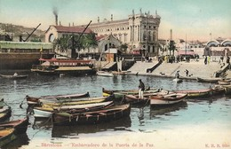 CARTE POSTALE ORIGINALE ANCIENNE COULEUR : BARCELONA EMBARCADERO DE LA PUERTA DE LA PAZ  ANIMEE CATALOGNE ESPAGNE - Barcelona