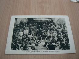 CP09/ INDE FRANCAISE MUSIQUE ET CHANTS RELIGIEUX / CARTE NEUVE - India