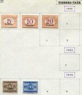 13027 LIBYE Collection Vendue Par Page : Taxe 1/3, 12/3; Colis Postaux 1/2, 4/9  °/ *  1921- 26   B/TB - Libya