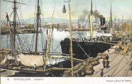 CARTE POSTALE ORIGINALE ANCIENNE COULEUR : BARCELONA  PUERTO ANIMEE CATALOGNE ESPAGNE - Barcelona