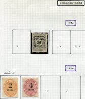 13021 LIBERIA Collection Vendue Par Page : Taxe  N° 2, 3, 4 (*)  1892-94   B/TB - Liberia