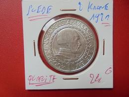 SUEDE 2 KRONE 1921 ARGENT TRES BELLE QUALITE  (A.7) - Sweden