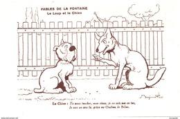 CPA BENJAMIN RABIER - FABLES DE LA FONTAINE : LE LOUP ET LE CHIEN  BB-501 - Rabier, B.