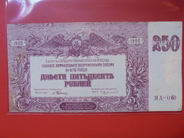 RUSSIE 250 ROUBLES 1920  CIRCULER PREFIX :060 - Russia