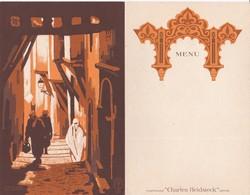 "MENU - CHAMPAGNE "" CHARLES HEIDSIECK""  Reims  -  ALGERIE (13.5 X 21 Cm.) - Menus"