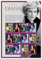 Isle Of Man 2017 - Diana, Princess Of Wales, A Postal Tribute Sheet Mnh - Isla De Man
