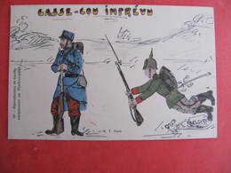 CPA - Illustrateur : PAYONNE - SOLDATS ALLEMAND ET FRANCAIS - CASSE COU IMPREVU   - J.M.T. Paris - Guerra 1914-18
