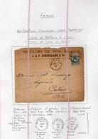 19/5 Bl  Lettre Type Paix 1890 Convoyeur Bethune Lille + Lille Calais Moulin De Don Nord Schotsmans - Agriculture