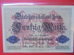 Darlehnskassenschein :50 MARK 1914 CIRCULER - [ 2] 1871-1918 : Duitse Rijk