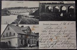 POLEN POLAND POLOGNE - RACLAWICZKI DEUTSCH RASSELWITZ - 1911 Multi View - TRAIN - Polen
