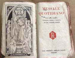 """"""" MESSALE  QUOTIDIANO """" A Cura Can.A.Masini In Latino/italiano Ed. Salani 1940 - Religion"""