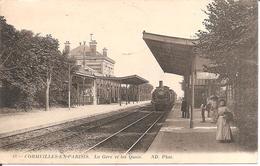 CORMEILLES-EN-PARISIS (95) La Gare Et Les Quais En 1915 - Cormeilles En Parisis