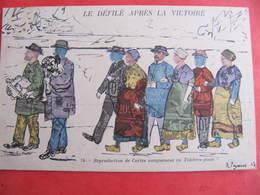 CPA - Illustrateur : PAYONNE - LE DEFILE APRES LA VICTOIRE - J.M.T. Paris - Guerra 1914-18