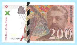 Billet Factice De La Banque De France - Coupure De 200 Francs - Type Gustave Eiffel - N° F 003980185 - France