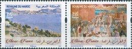 2019 - Emission Commune - Chefs-d'œuvre Des Musées De France Et Du Maroc - Morocco (1956-...)