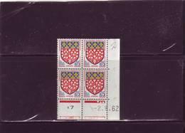 N° 1352 - 0,05F Blason D'AMIENS - A De  A+B - 1° Tirage Du 5.7.62 Au 4.8.62 - 2.8.1962 - (exemplaire N° 2) - 1960-1969