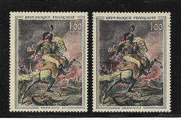 France N°1365 Et 1365a (sabre Rouge) Neuf ** - Abarten Und Kuriositäten