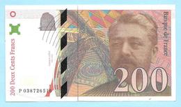 Billet Factice De La Banque De France - Coupure De 200 Francs - Type Gustave Eiffel - N° P 038726516 - France
