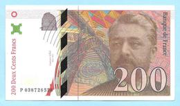 Billet Factice De La Banque De France - Coupure De 200 Francs - Type Gustave Eiffel - N° P 038726536 - Francia