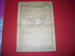 Extrait Du Livret Individuel (bourot Noel) Bataillon Du Génie (de Casablanca) - Regimenten