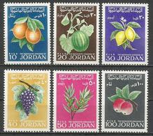 Jordan,Flora-Fruits 1969.,MNH - Jordan