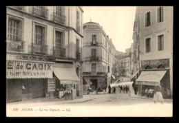 ALGERIE - ALGER - RUE DUPUCH - CAFE DE M. SYLVAIN, JUDAISME - BAR DUPUCH - ABSINTHE BRESSON - Alger